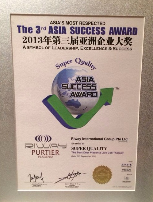 Purtier Deer Placenta best quality live stem cell therapy 3rd asia sucess award