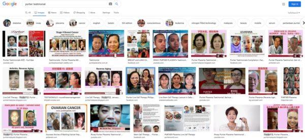 Google hình ảnh tìm kiếm lời chứng thực PURTIER